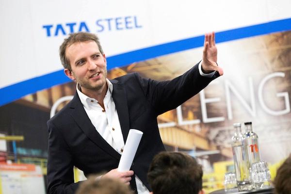 Lars Duursma als dagvoorzitter bij Tata Steel Europe