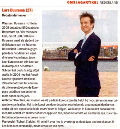 Elsevier: Lars Duursma bij 50 grootste talenten van Nederland
