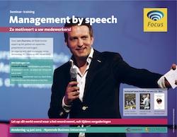 Brochure: Management by speech