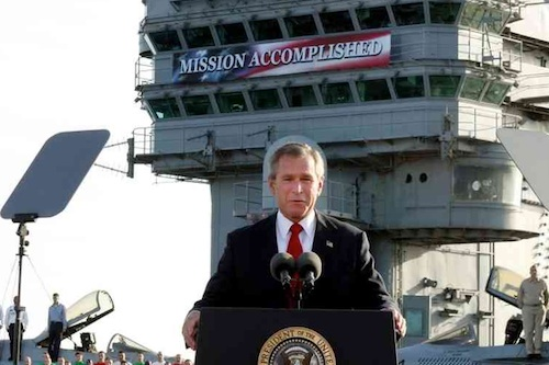 Bush: mission accomplished