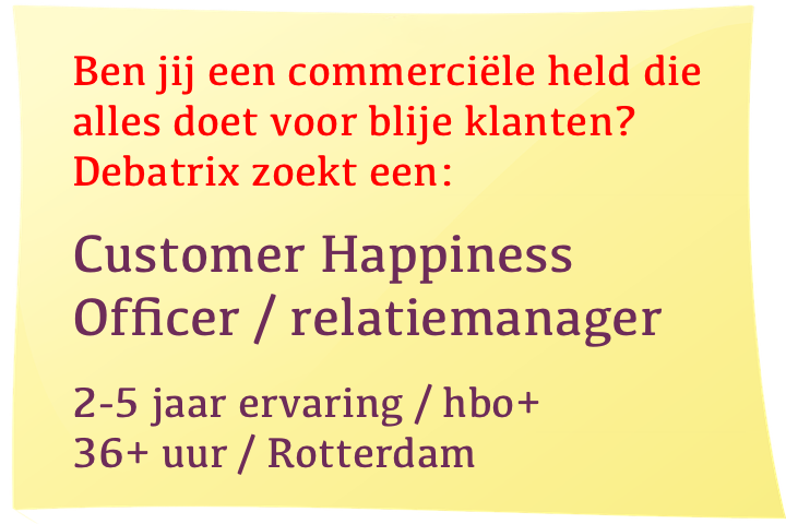 Vacature Customer Happiness Officer