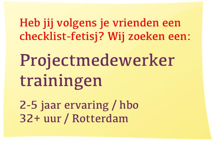 Vacature Projectmedewerker