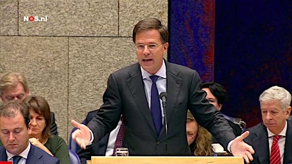 Mark Rutte tijdens de Algemene Politieke Beschouwingen 2015