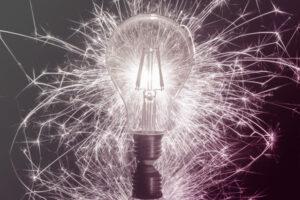 lamp met vonken