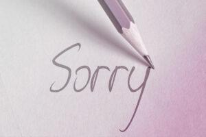 tekst sorry