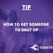 Wat te doen als iemand je niet laat uitpraten