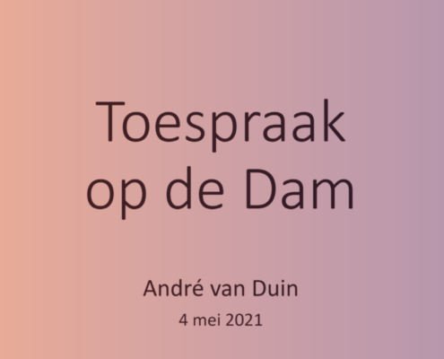 Toespraak Andre van Duin