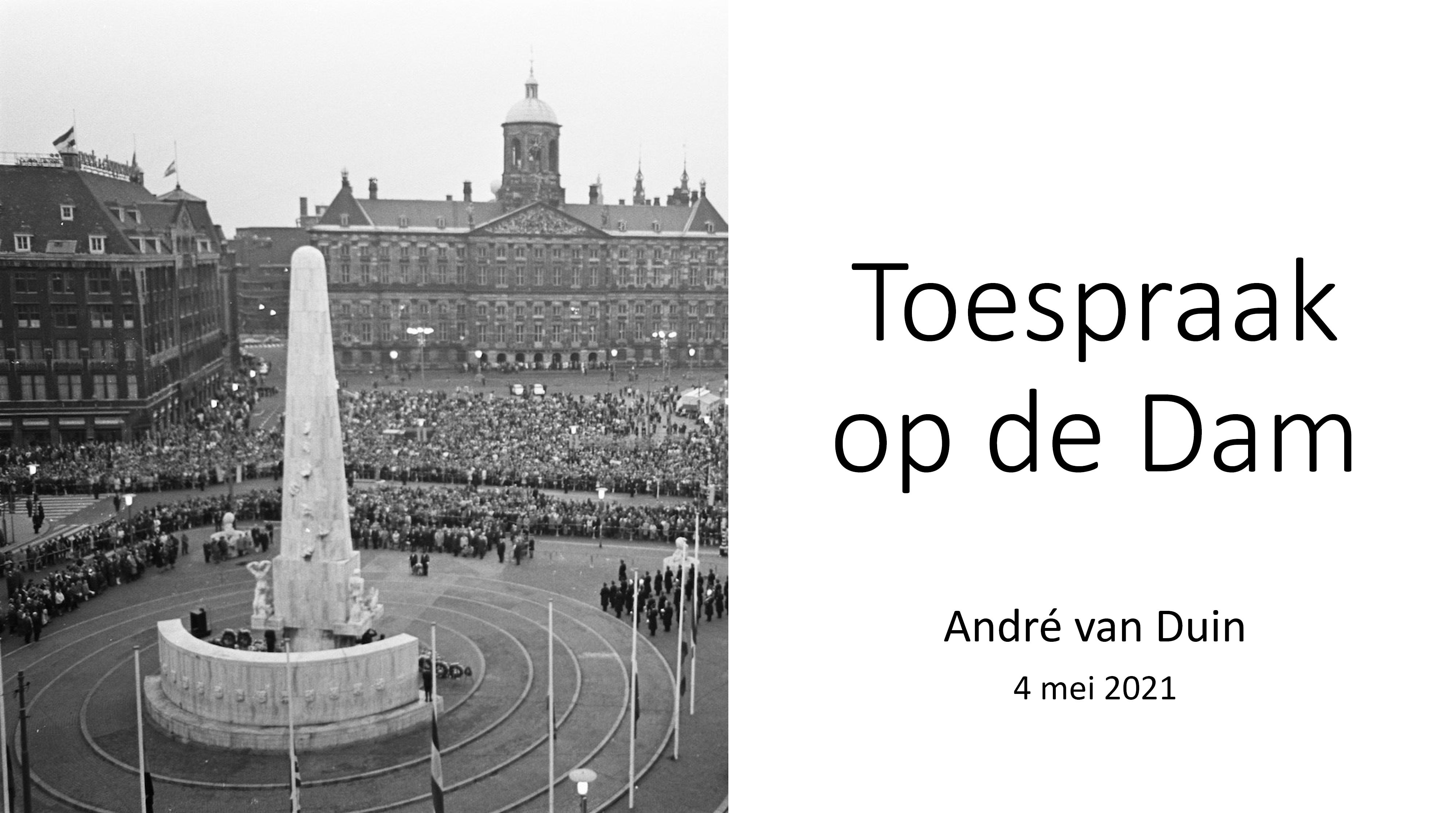 Speech André van Duin 4 mei